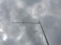 Antena na tymczasowym maszcie